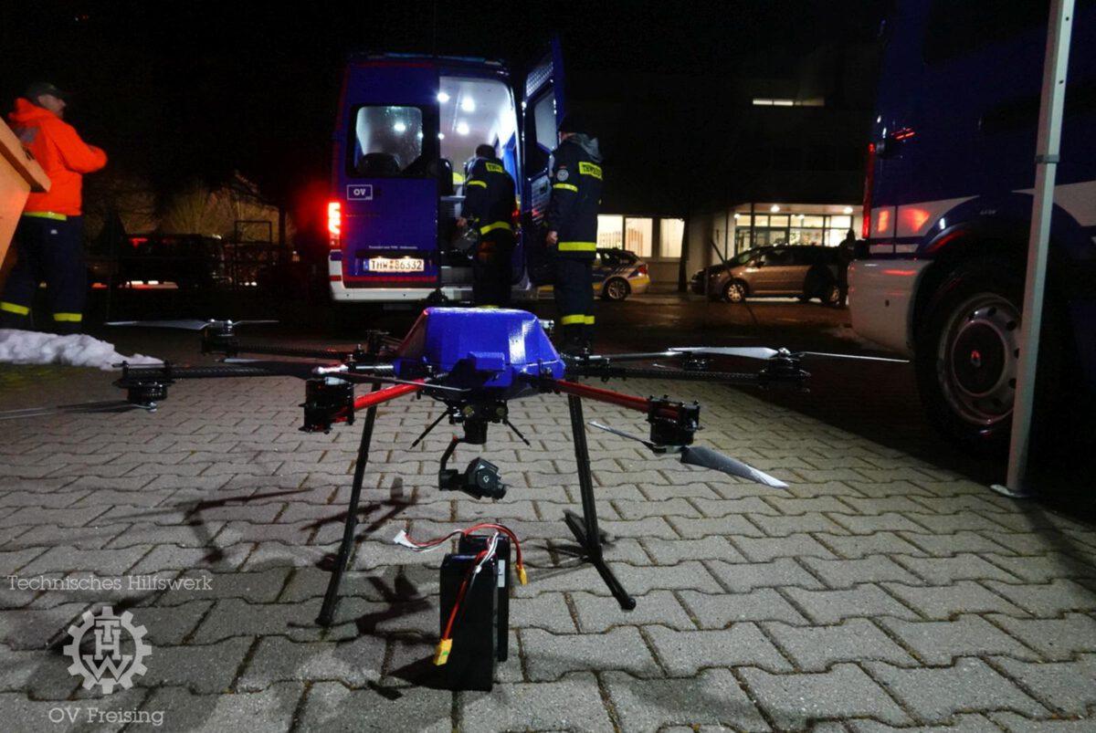 Freisinger Drohnentrupp unterstützt bei Vermisstensuche im Landkreis Erding