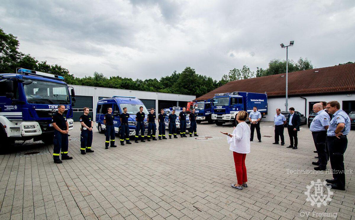 Freisinger THW bricht auf – Schwerer Einsatz im Überschwemmungsgebiet Ahrweiler